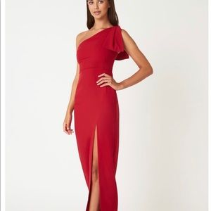 9d15762c0f Vesper emmeline long red dress